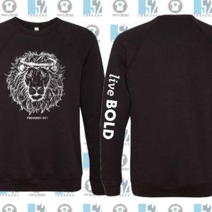Live Bold Black Sweatshirt