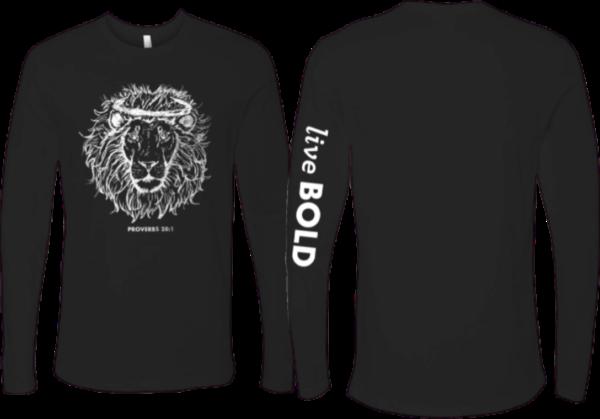 Black Long Sleeve Live Bold sleeve