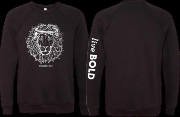 Black Sweatshirt Live Bold Sleeve